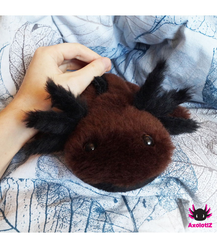 Axolotl Plush brown-black