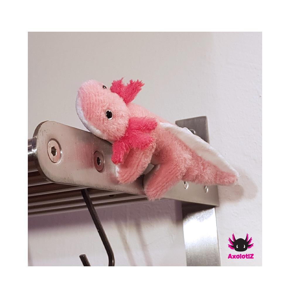 Axolotl Magnet rosa-pink 15cm