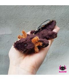 Axolotl Fimo Kette/Armband schwarz-weiß