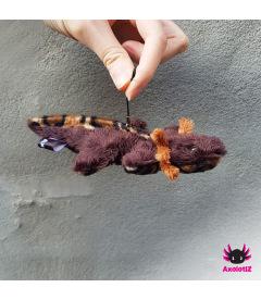 Axolotl pendant darkbrown