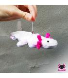 Axolotl pendant white-pink