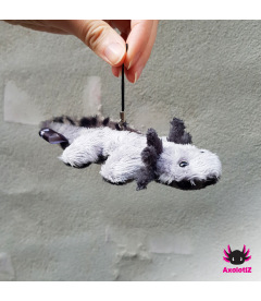 Axolotl pendant grey