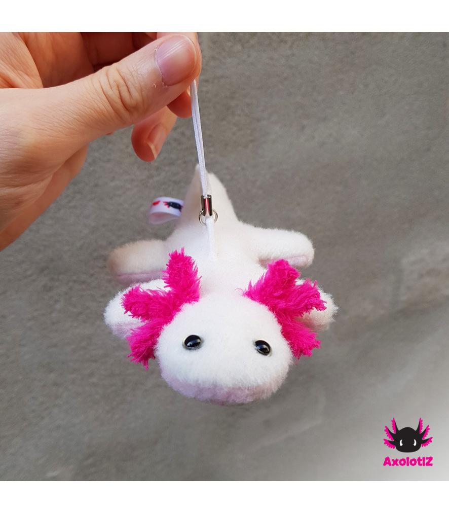 Axolotl pendant white-pink 2.0