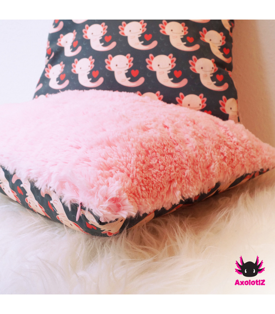Pillow with Axolotl