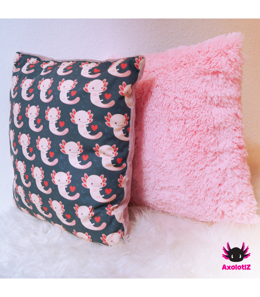 Pillow with Axolotl