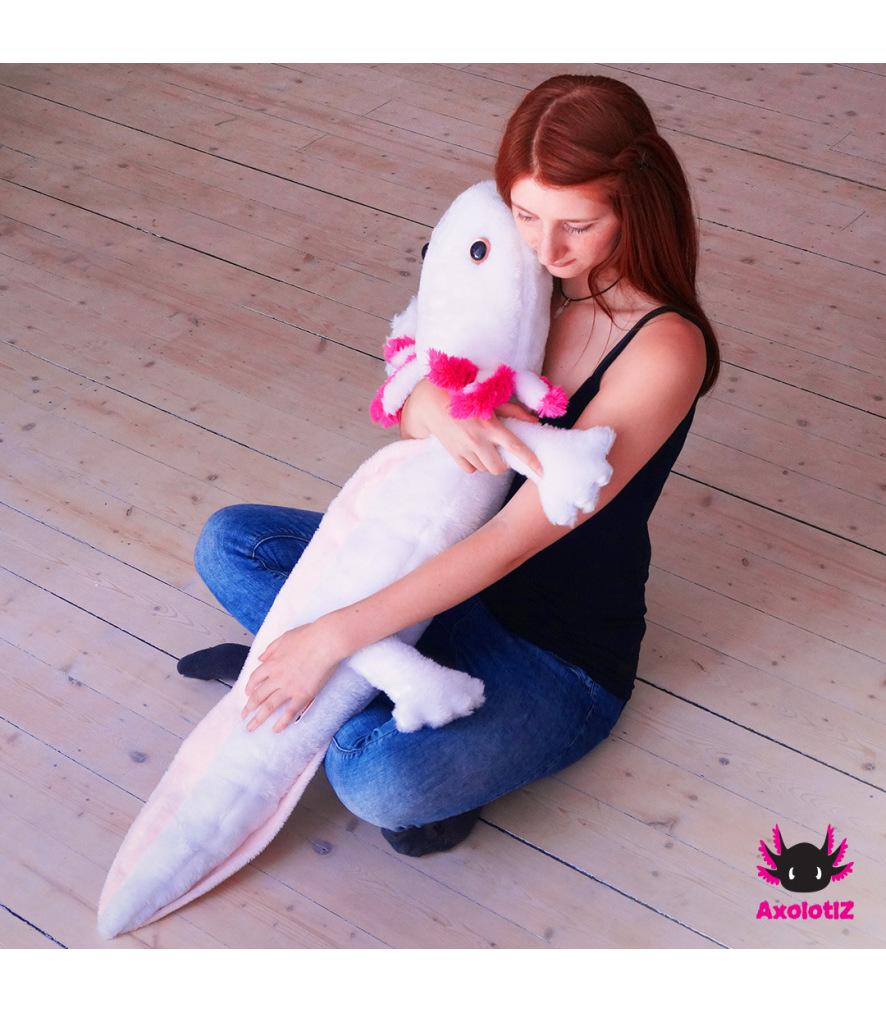 XXL-Axolotl Plush white 1,2m