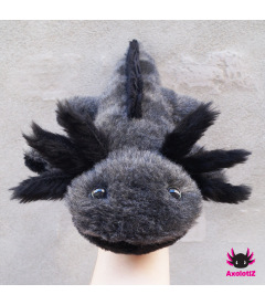 Axolotl Plush grey-black
