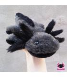 Axolotl Plush grey-black