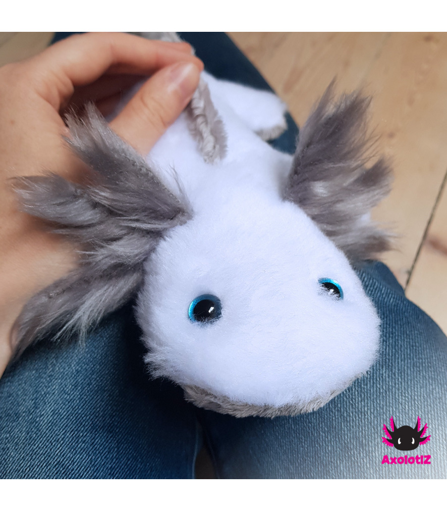 Axolotl Plush white-grey