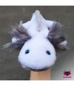Axolotl Plush white-grey