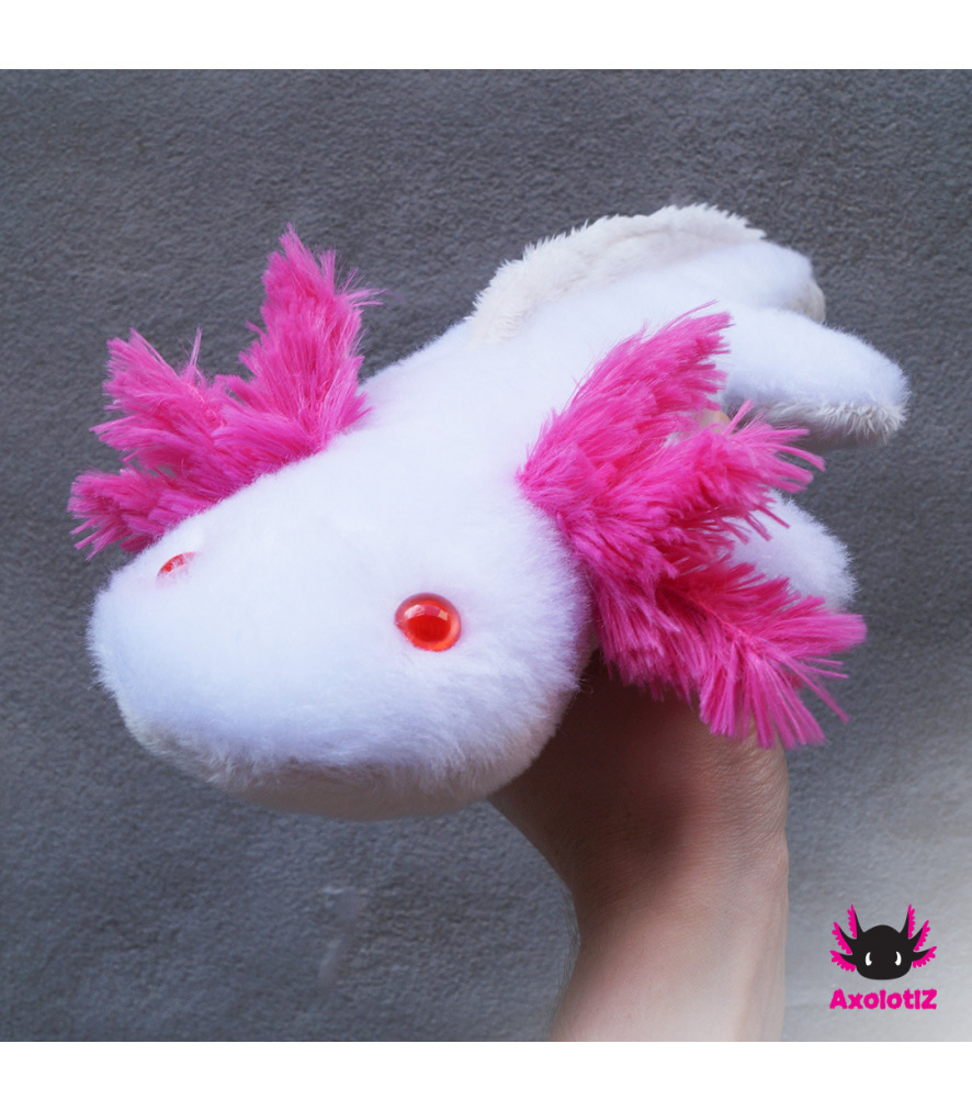 Axolotl Plush white-pink