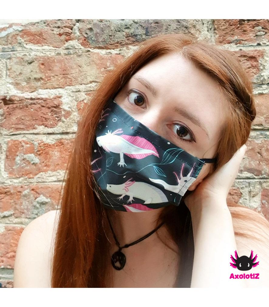 Face mask - Axolotl Motiv 4
