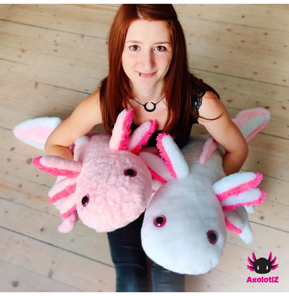 XXL-Axolotl Plush rosé 1,2m