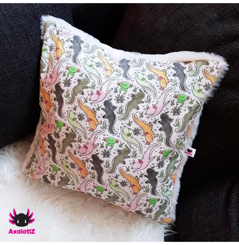 Pillow with Axolotl 2