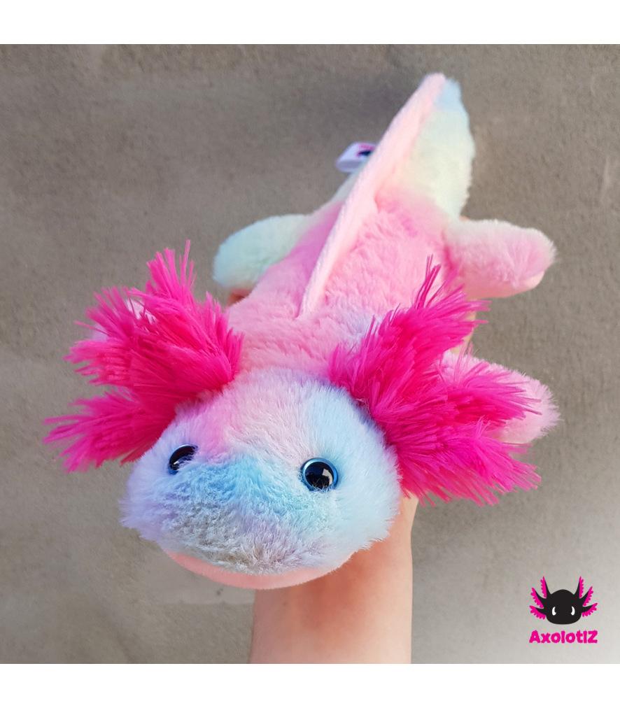 Axolotl Plush Rainbow-pink