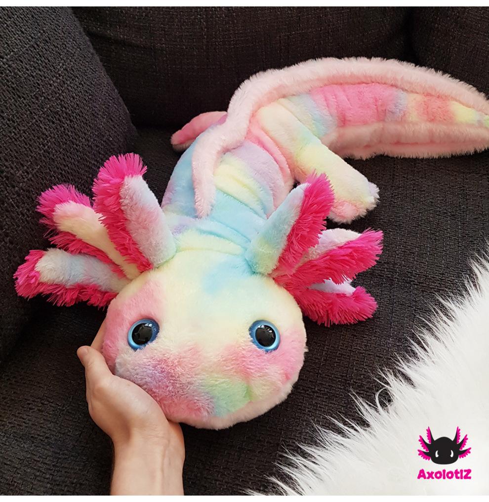 XL-Axolotl - Regenbogen 80cm