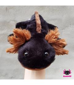 Axolotl Plush black-brown